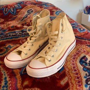 43ace85750d4 Women s Cream High Top Converse on Poshmark